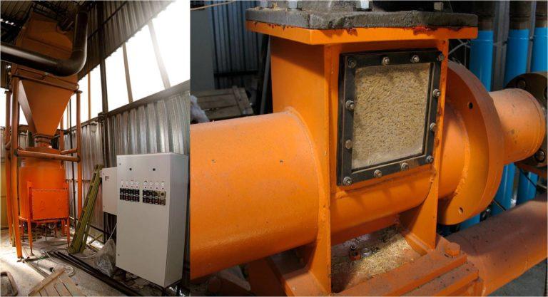 Фото 1. Монтаж питателя установки. Перевод парового котла ДЕ-6.5-14 с природного на генераторный газ. Утилизация лузги крупяного завода.