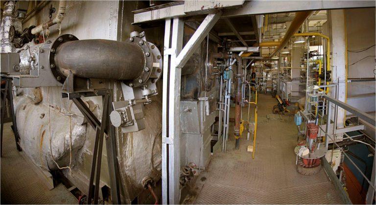 Фото 3. Подвод генераторного газа к котлу.