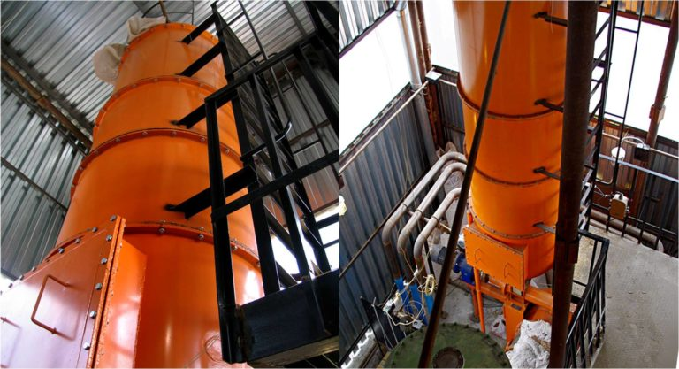 Перевод парового котла ДЕ-6.5-14 с природного на генераторный газ. Утилизация лузги крупяного завода.